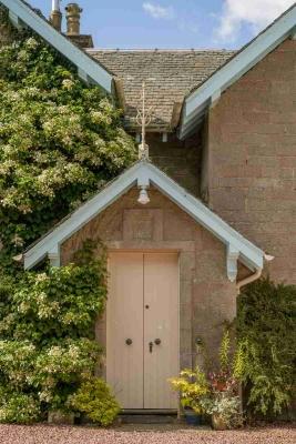 Main door of Crosswoodhill Farmhouse