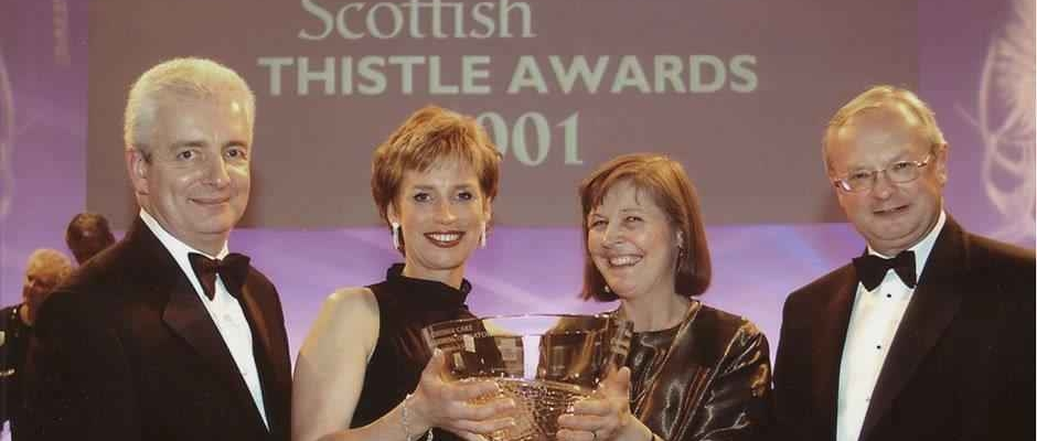 In 2001 Crosswoodhill won its first prestigious Scottish Tourism Oscar Thistle Award.